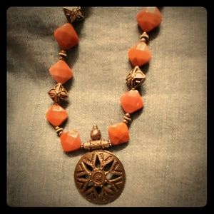 """Aztec 18"""" Necklace with 7"""" Matching Bracelet"""